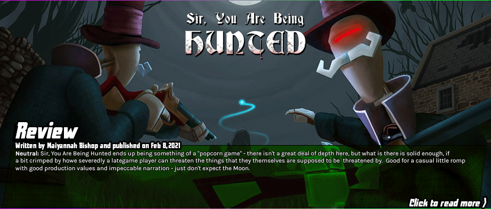 Review: Sir, You Are Being Hunted - Sir, You Are Being Hunted ends up being something of a