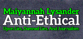 The Soapbox: Anti-Ethical: On Lies, Damned Lies, and Journalism