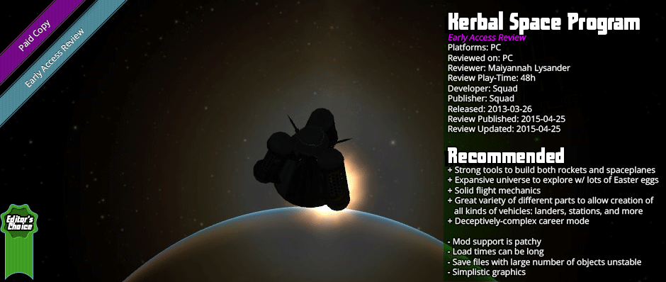 Early Access Review: Kerbal Space Program