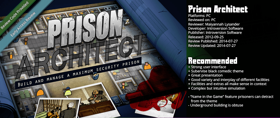 Early Access Review: Prison Architect