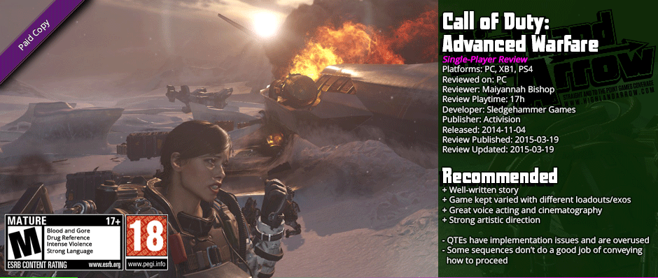 Review: Call of Duty: Advanced Warfare (Single-Player)