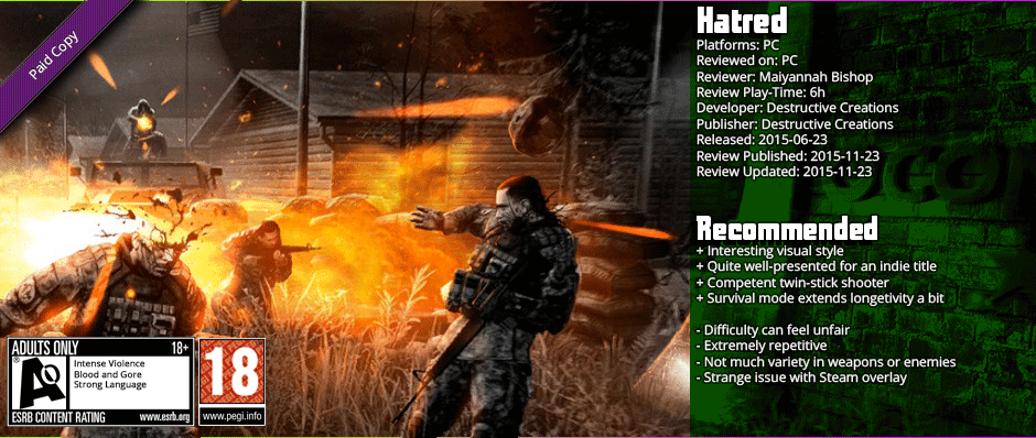 Review: Hatred