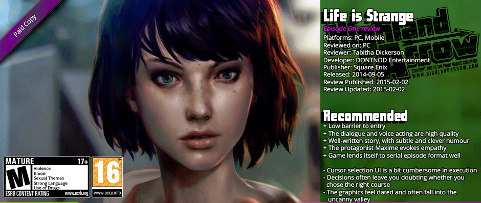 Review: Life Is Strange (Episode 1)