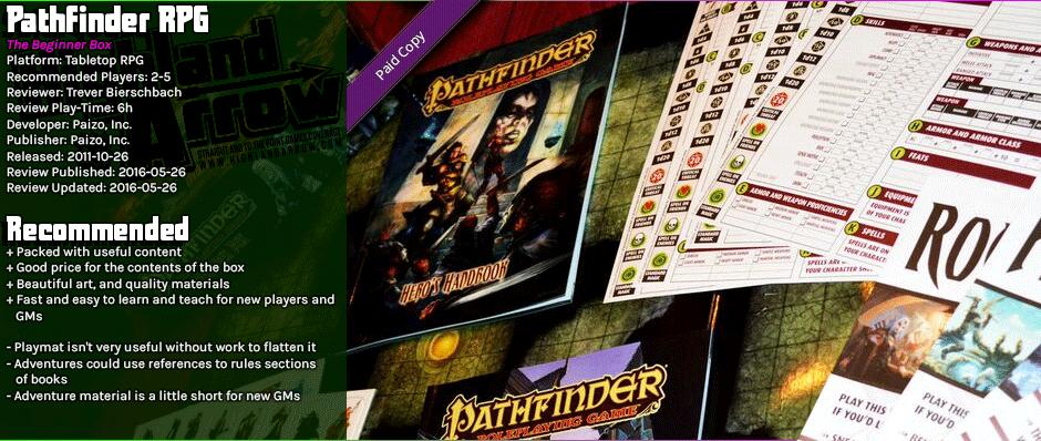 Tabletop Review: Pathfinder RPG Beginner Box